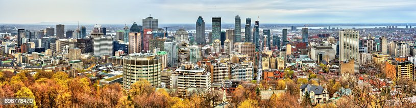 istock Montreal skyline from Mont Royal, Canada 696778470