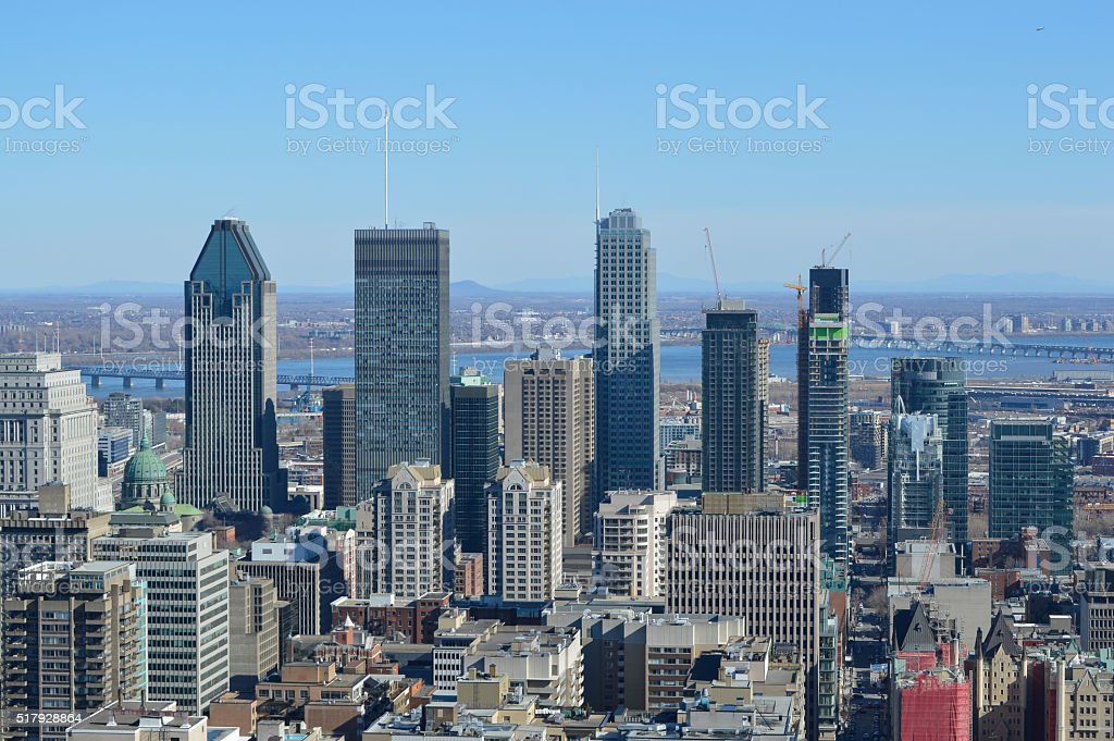 Montreal Skyline stock photo