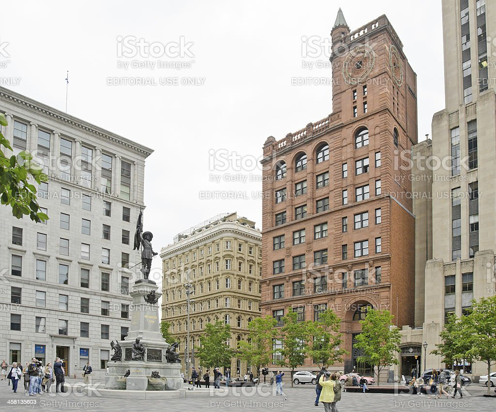 Montreal Square royalty-free stock photo