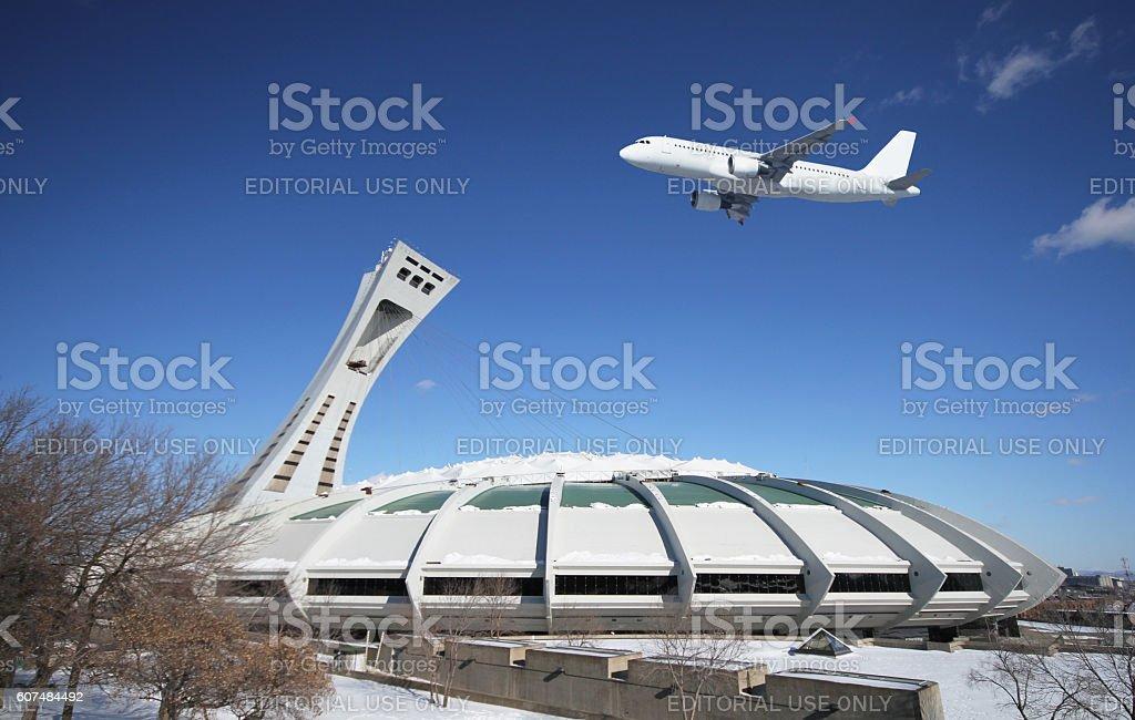 Montreal stadium stock photo
