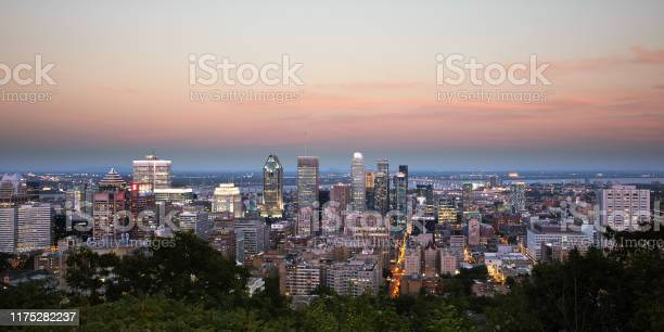Photo of Montreal Summer Panorama from Mount Royal - Blue hour sunset