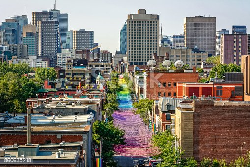 Montreal view of the gay village