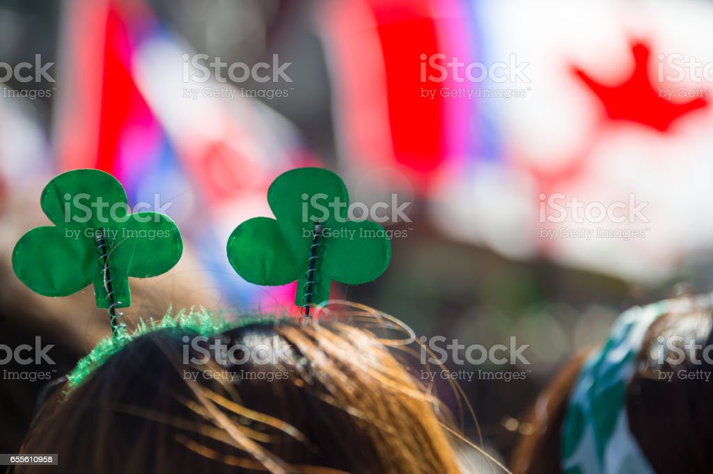 Montreal's St. Patrick's Day parade stock photo