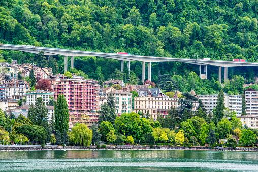 Montreux cityscape, Switzerland