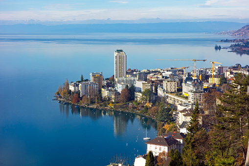 Montreux on Lake Geneva, canton of Wadt, Switzerland