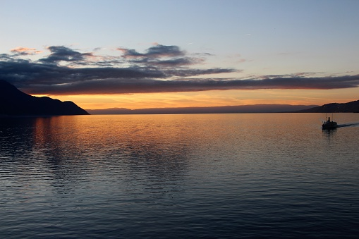 montreux - sunset on the lake