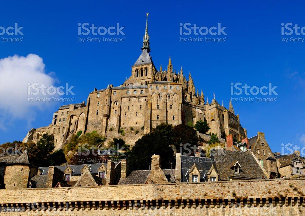 Mont-Saint-Michel Abbey, France stock photo