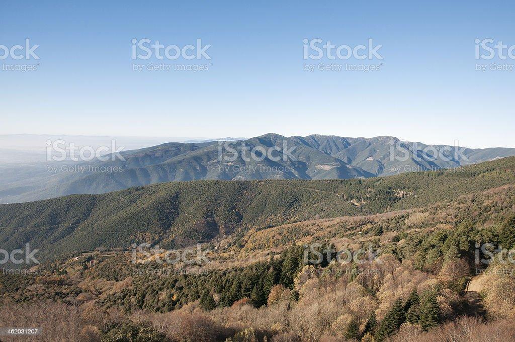 Montseny mountains in Barcelona stock photo