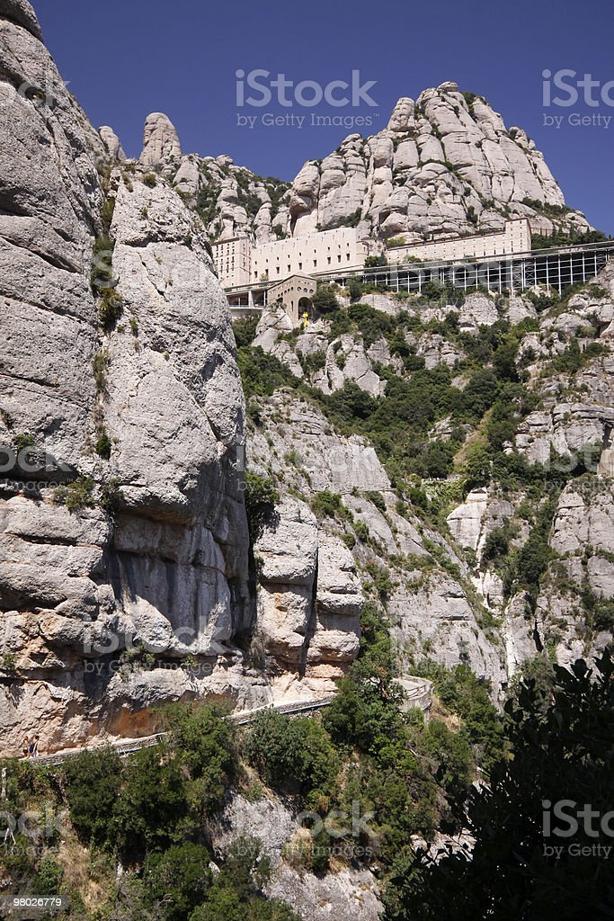 Montserrat Abbey in Catalonia, Spain royalty-free stock photo