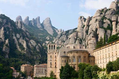 Montserrat abbey in Spain