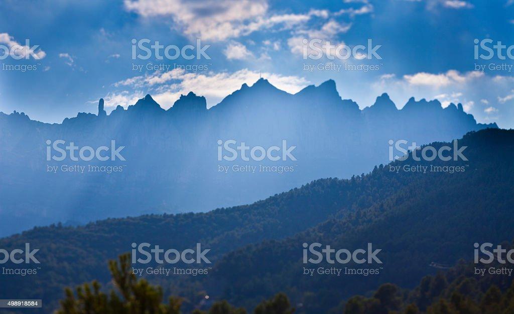 Montserrat backlighted stock photo