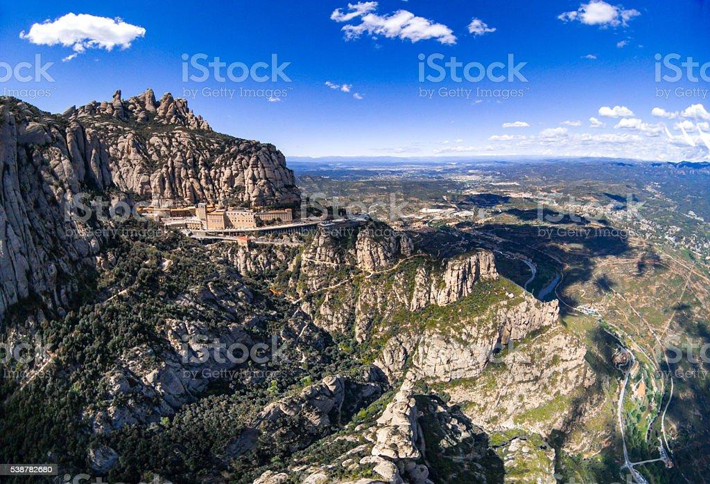 montserrat Barcelona mountain monastery sanctuary catalunya stock photo