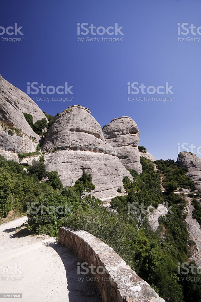 Montserrat in Catalonia, Spain royalty-free stock photo