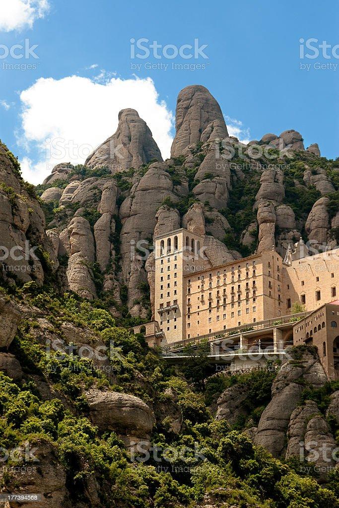 Montserrat Monastery, Barcelona stock photo