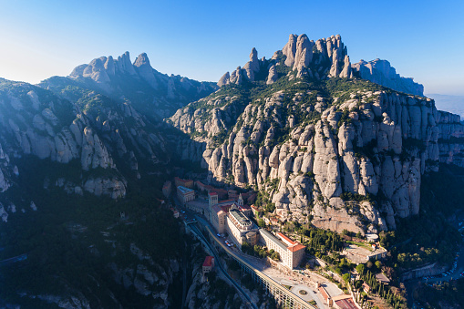 Montserrat Monastery in the mountains