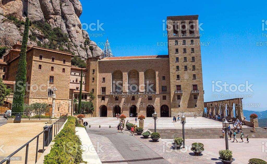 Montserrat Monastery near Barcelona stock photo