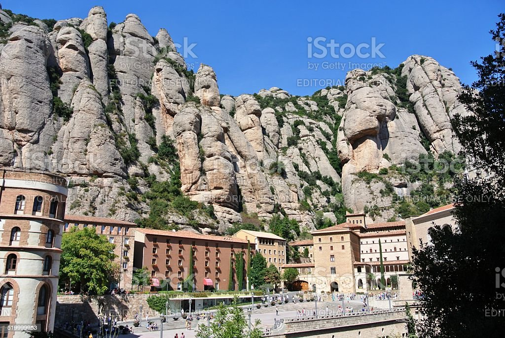 Montserrat mountain, Spain stock photo