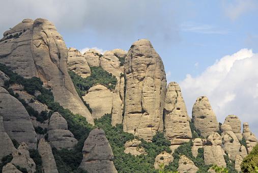 Montserrat mountains near Benedictine abbey, Spain