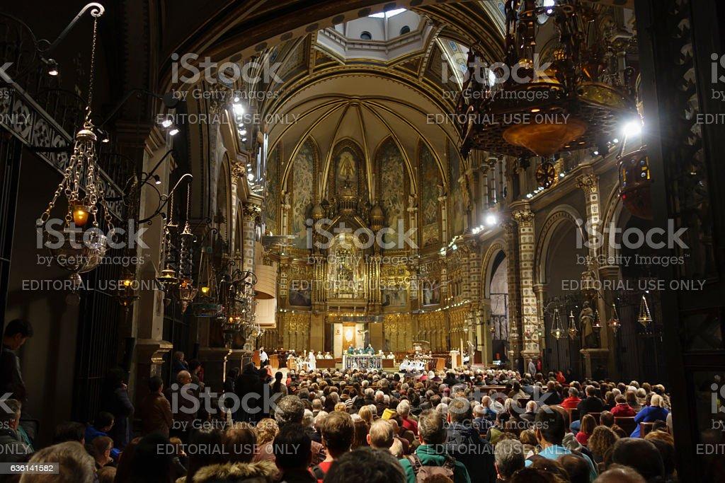 Montserrat Temple, Catalonia, Spain stock photo