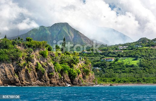 Series of eruptions of Soufriere Hills volcano between 1995 and 1999 devastated capital town Plymouth and several other villages. The zone is restricted until today, and buildings in that area are covered in volcanic flow of mud, ash, and rocks. Plymouth often is called