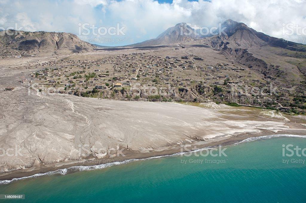 Montserrat Volcano stock photo