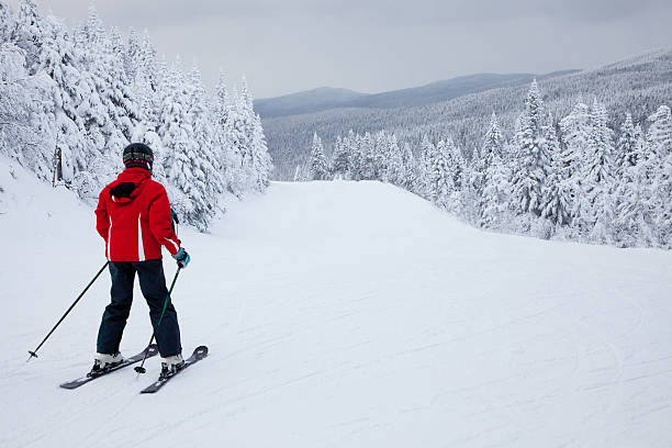 Mont-Tremblant Ski Resort, Quebec, Canada stock photo
