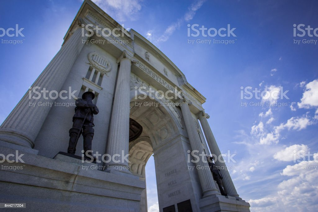 Monument against blue sky stock photo