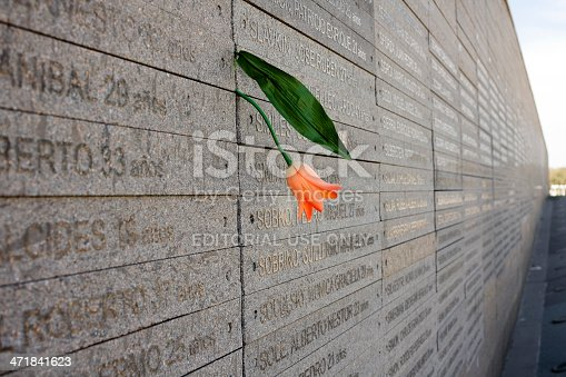 Buenos Aires, Argentina - August 19, 2013: Monument at