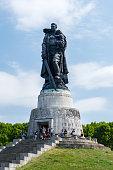 Berlin, Germany - August 18, 2018: Monument at Soviet War Memorial in Treptower Park.