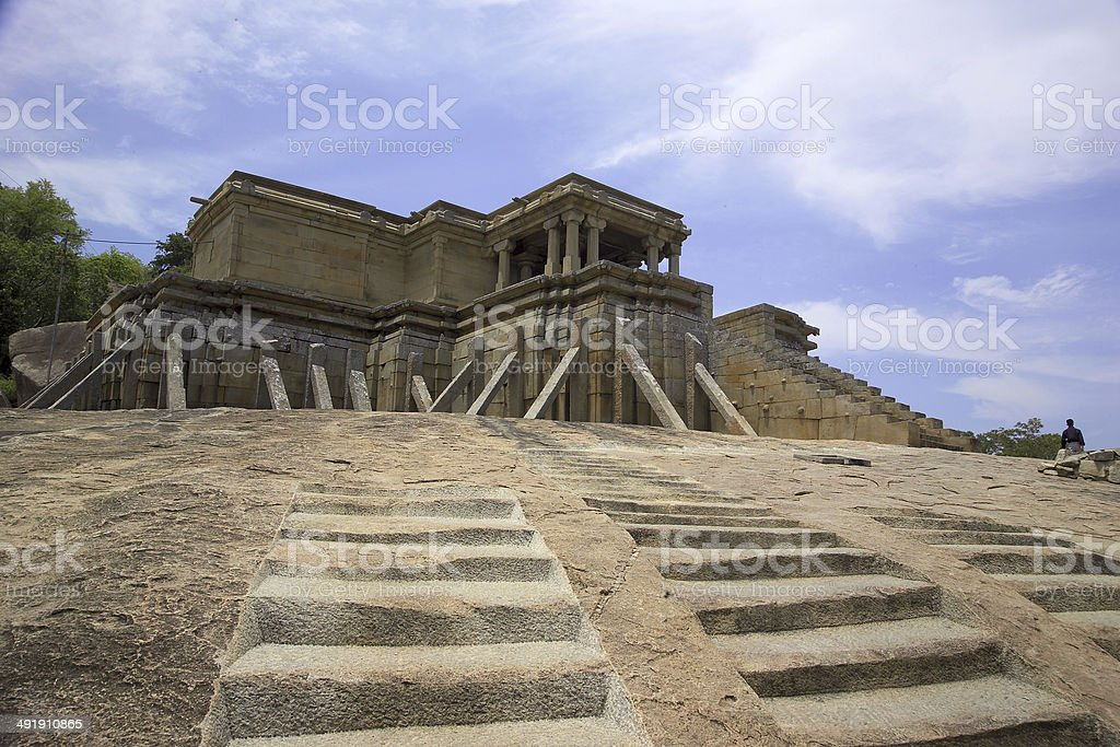 Monument at sravanabelagola stock photo