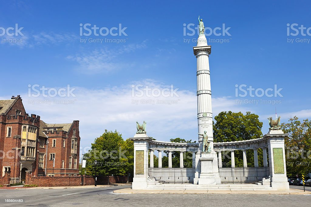 Monument Avenue In Richmond, Virginia stock photo