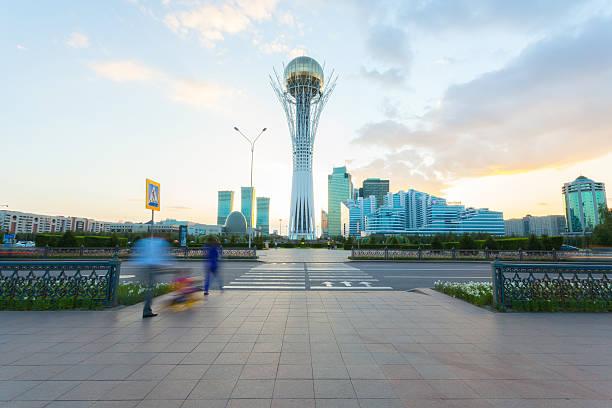 Monument Baiterek in Astana, capital Kazakhstan stock photo