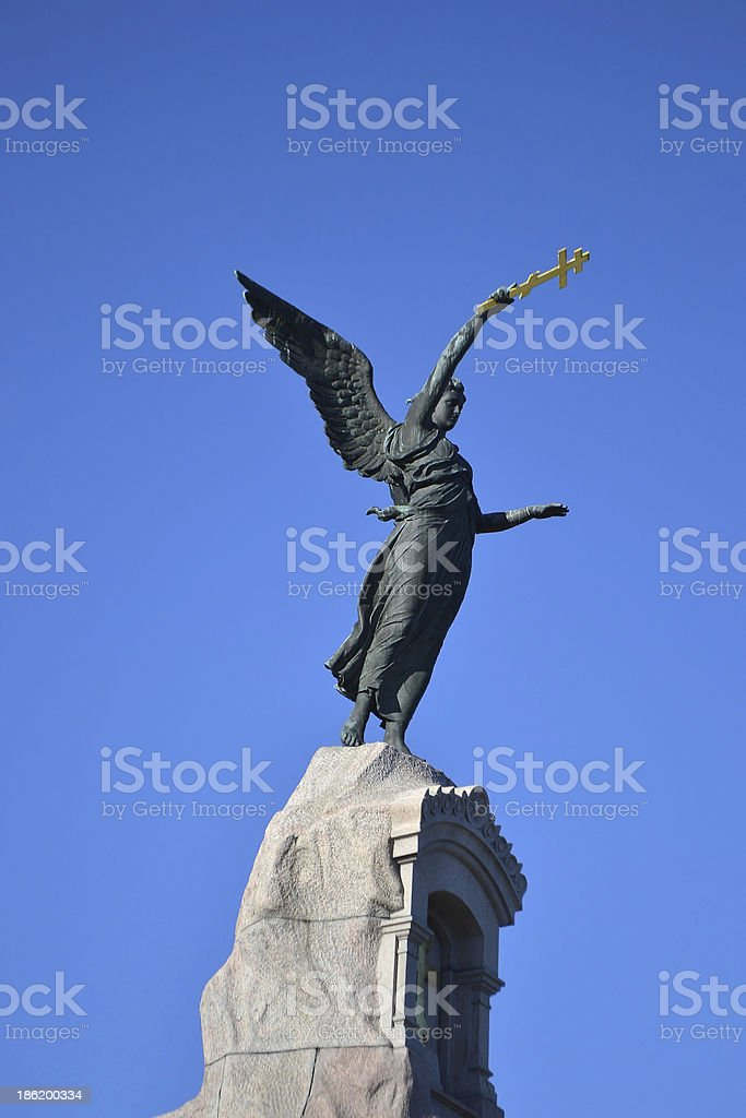 Monument Black Angel royalty-free stock photo