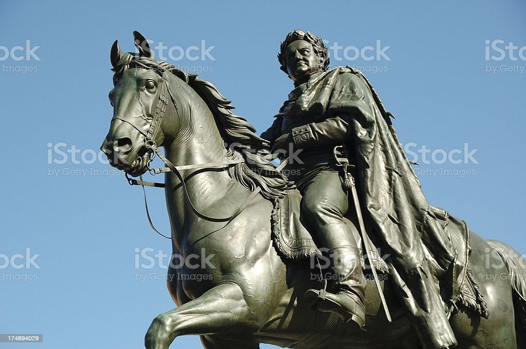 Monument, Carl August - grand duke of Saxony Weimar Eisenach royalty-free stock photo