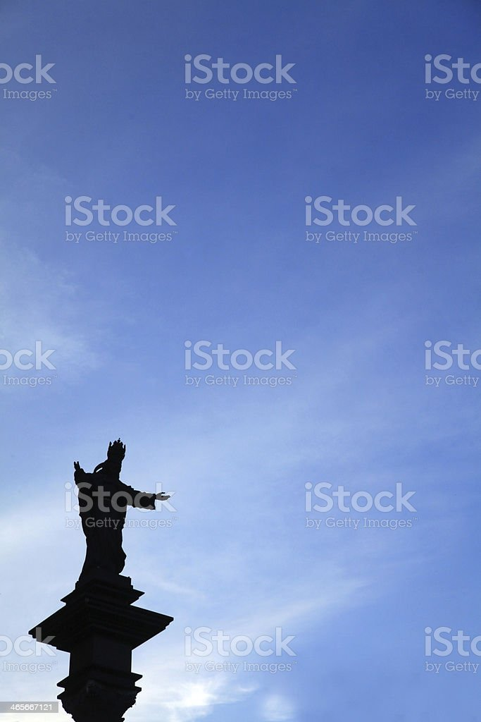 Monument Christ the King stock photo