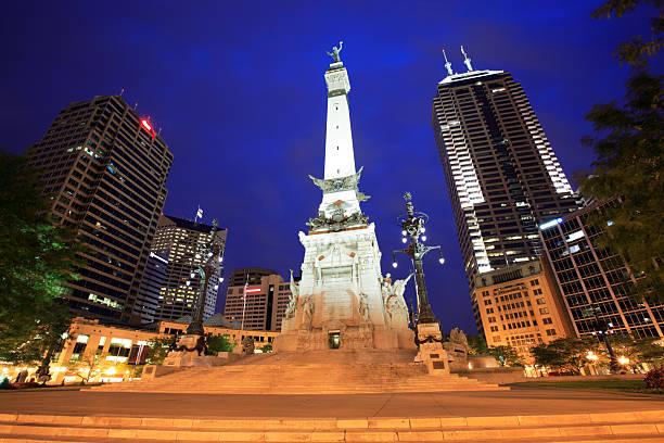 Moument Circle, Indianapolis, dans l'Indiana - Photo
