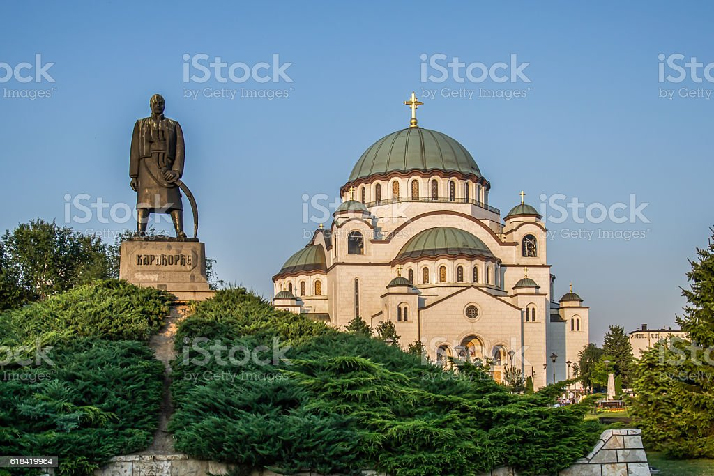 Monument commemorating Karageorge Petrovitch in Belgrade stock photo