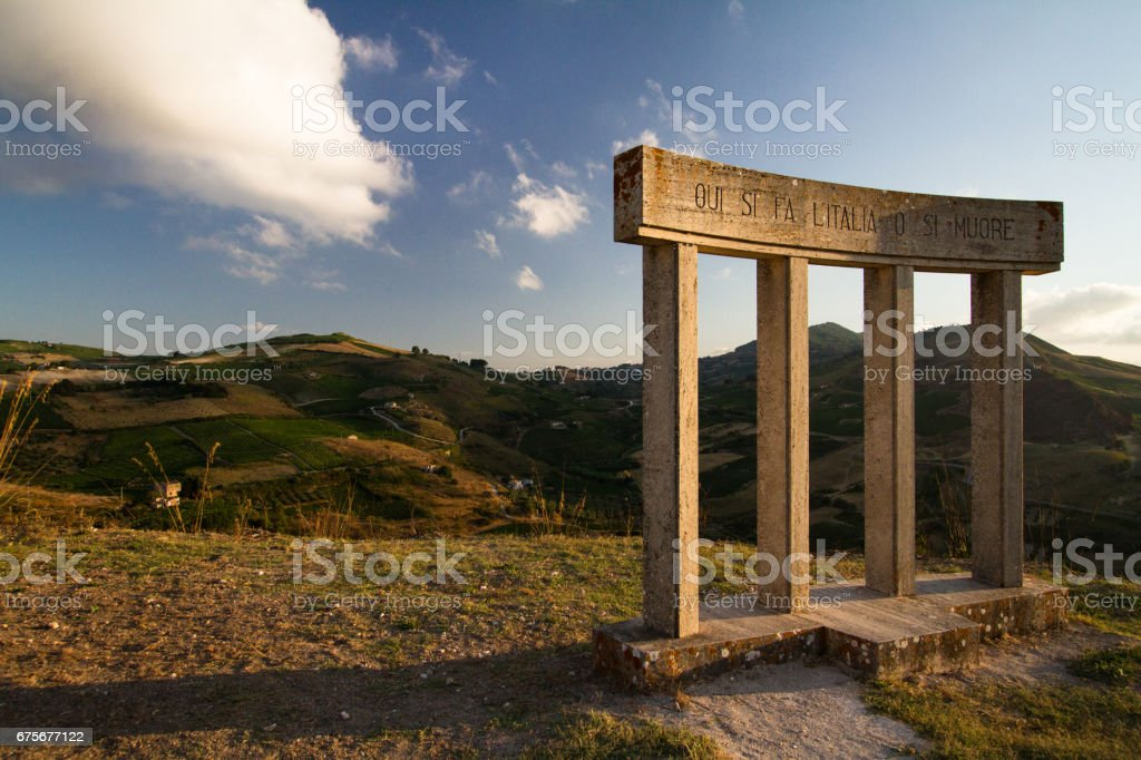 Monument dedicated to United Italy royalty-free stock photo