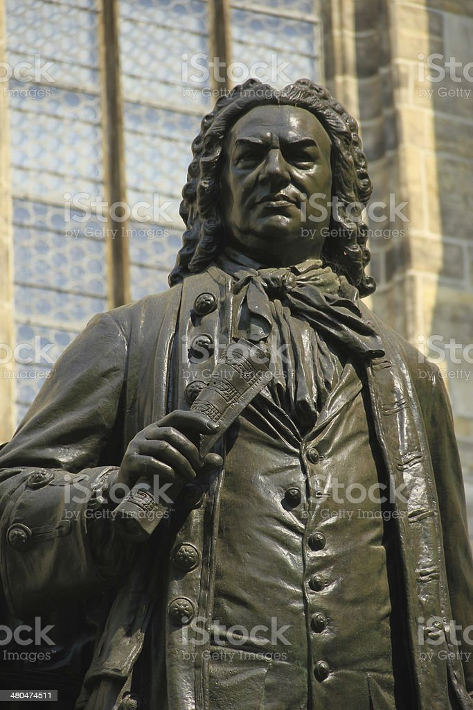 Monument for Johann Sebastian Bach, Leipzig, Germany stock photo