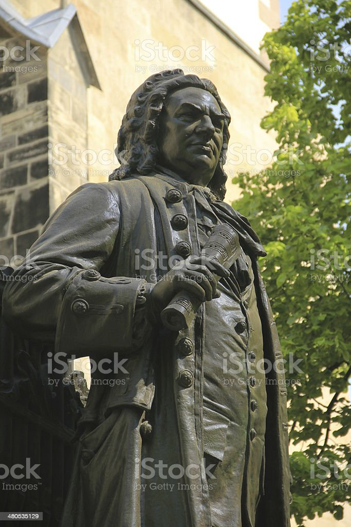 Monument for Johann Sebastian Bach, Leipzig, Germany royalty-free stock photo