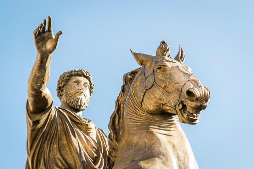 Monument For Marcus Aurelius Stock Photo - Download Image Now