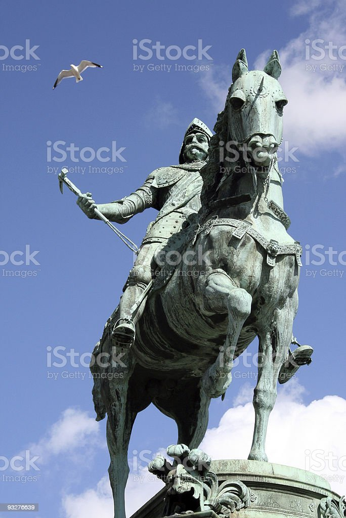 Monument in Gotheburg royalty-free stock photo