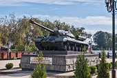 monument in honor of victory in the great Patriotic war, set in the town of Armavir, Krasnodar region, Russia, photographed 10-05-2017