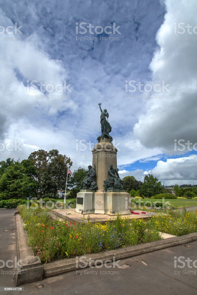 Monument in memory of the fallen in World War II stock photo