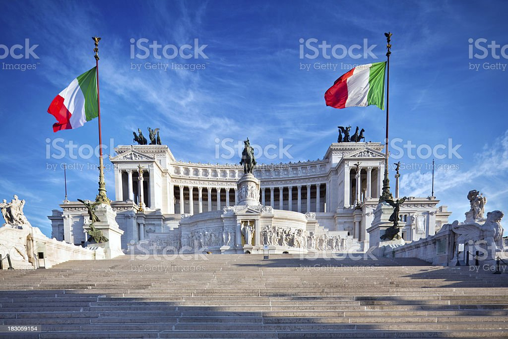 Monument in Rome stock photo