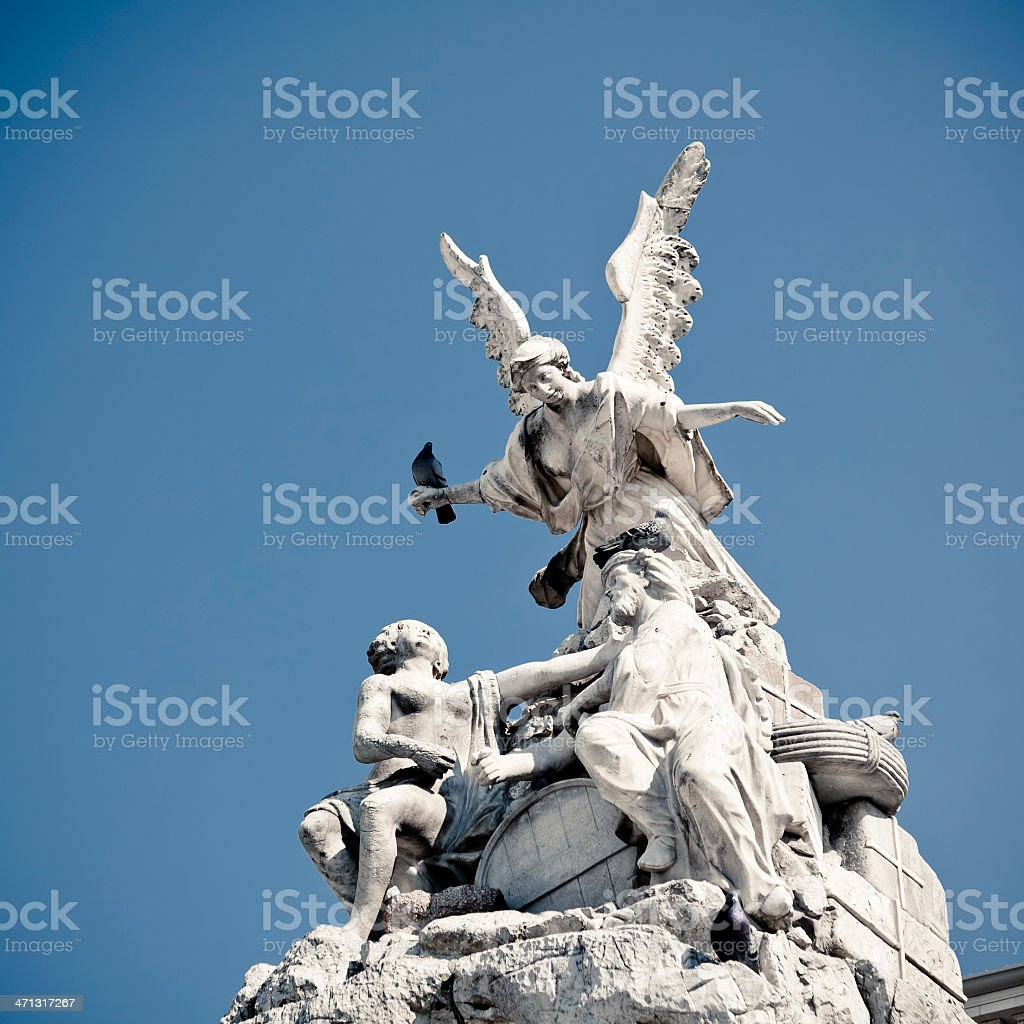 Monument in Trieste royalty-free stock photo