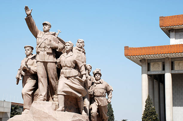 Monument Mao and Chinese People(Beijing,China)  mao tse tung stock pictures, royalty-free photos & images