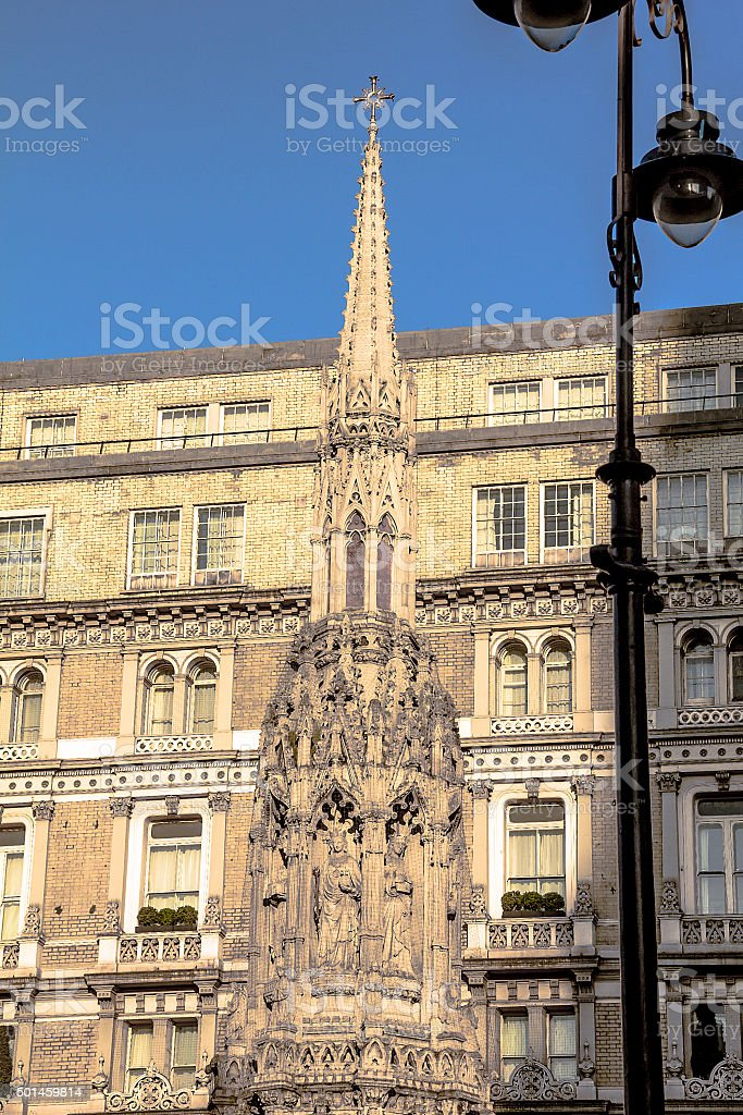 Monument: near Charing Cross - Queen Eleanor's Cross stock photo