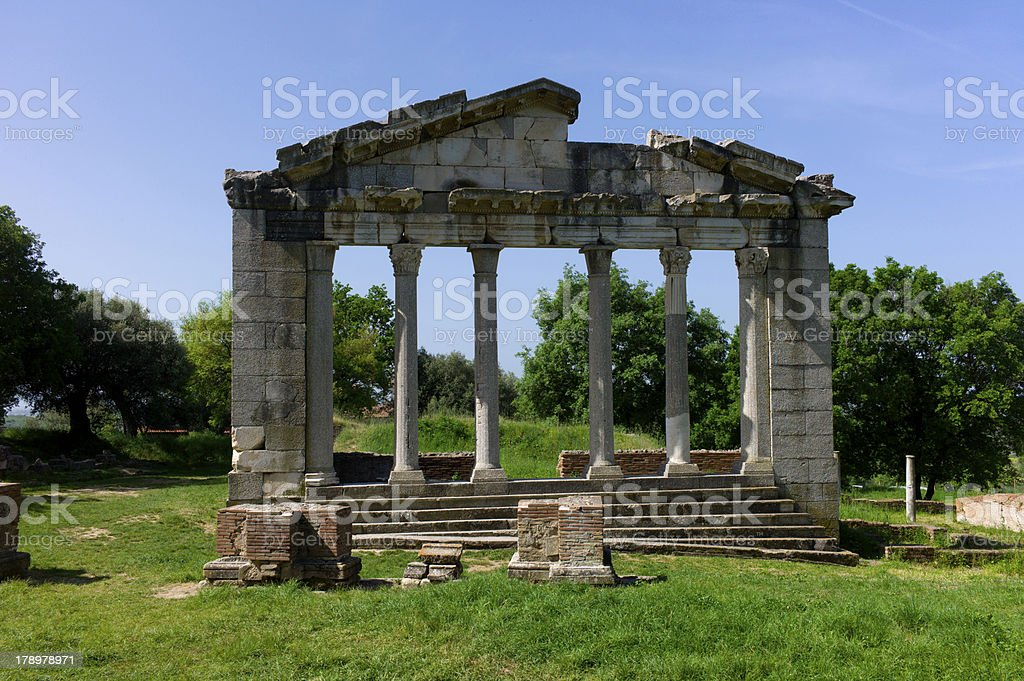 Monument of Agonothetes in Apollonia. royalty-free stock photo