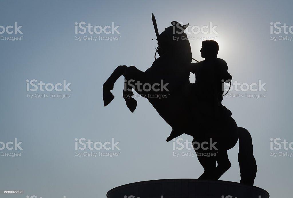 Monumento de Alexander - foto de acervo